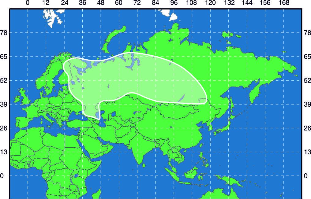 Зона охвата спутника Ямал-402